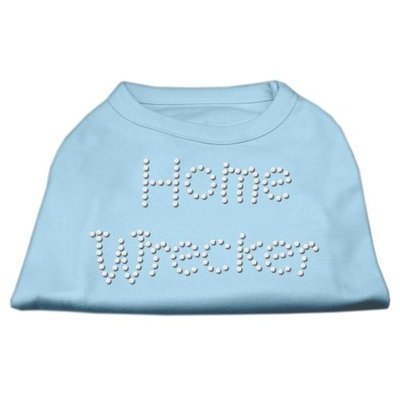 Mirage Pet Products 5238 LGBBL Home Wrecker Rhinestone Shirts Baby Blue L 14