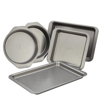 Cake Boss 5-Piece Bakeware Set, Gray