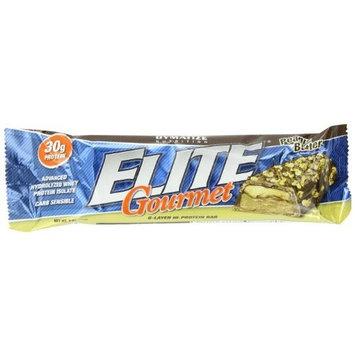 Dymatize Nutrition Elite Gourmet 6 Layer Hi-protein Bar Peanut Butter, 12-Count