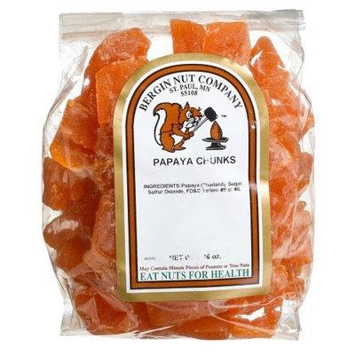 Bergin Nut Company Papaya Chunks, 16-Ounce Bags (Pack of 6)