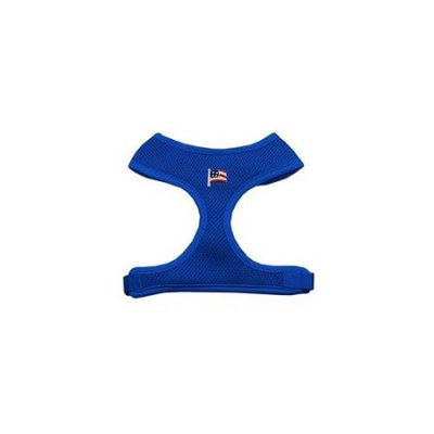 Mirage Pet Products 73-17 LGBL American Flag Chipper Blue Harness Large
