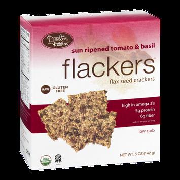 Flackers Flax Seed Crackers Sun Ripened Tomato & Basil Gluten Free