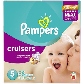 Babies R Us Pampers Diapers Cruisers Size 5 Super 66 count