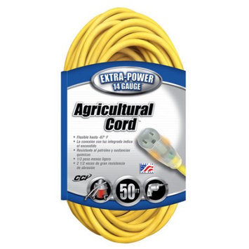 Coleman Cable 01458 Outdoor Extension Cord - 50 feet