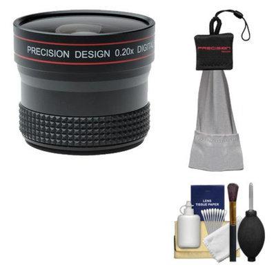 Precision Design 0.20x HD High Definition Fisheye Lens with Cleaning & Accessory Kit for Nikon D3100, D3200, D5100, D5200, D7000, D600, D700, D800, D4 Digital SLR Cameras