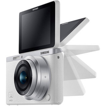 Samsung White NX Mini Smart Camera with 20.5 Megapixels and 9mm Lens