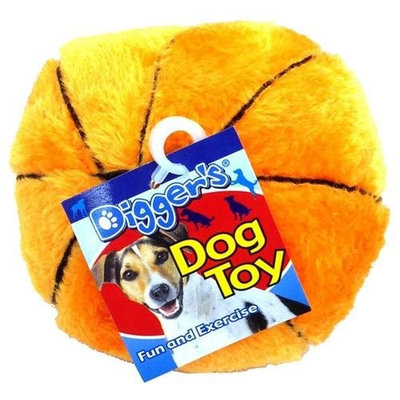 Diggers Basketball Plush Dog Toy (0880916)