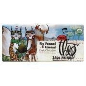 Theo Chocolate Organic Fig, Fennel & Almond Dark Chocolate Bar 2 oz.