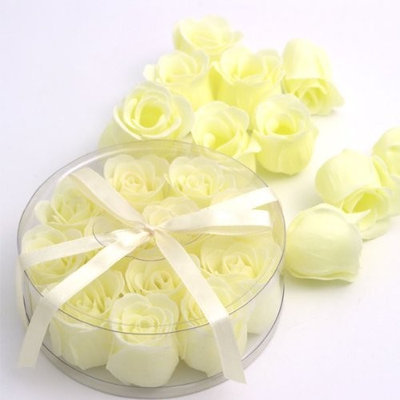 Wrapables Scented Rose Soaps, Ivory, Set of 12