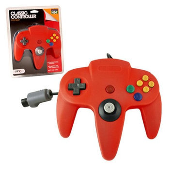 TTX Tech Wired Controller For Nintendo 64 System Red