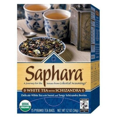 Celestial Seasonings® Saphara White Tea With Schizandra, 15 Count 1.2 Ounce Boxes (Pack of 6)