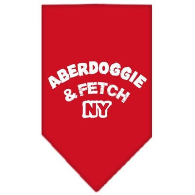 Mirage Pet Products Aberdoggie NY Screen Print Bandana for Pets, Large, Red