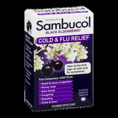 Sambucol Cold & Flu Relief Black Elderberry - 30 CT