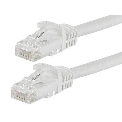 Monoprice 25FT FLEXboot Series 24AWG Cat5e 350MHz UTP Bare Copper Ethernet Network Cable - White