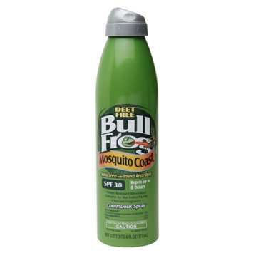 Bull Frog Mosquito Coast Continuous Spray Sunblock with Insect Repellent, SPF 30, 6 oz