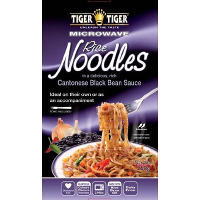 Tiger Tiger Microwaveable Noodles Cantonese Black Beans, 8.8-Ounce (Pack of 8)