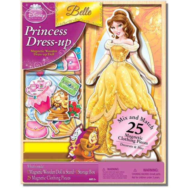 Disney Belle Belle Magnetic Wooden 25-Piece Doll Set