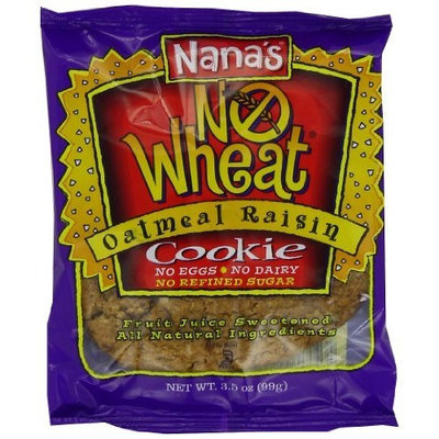 Nana's No Wheat Cookie, Oatmeal Raisin, 3.5-Ounce Packages (Pack of 12)