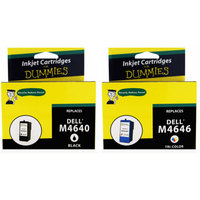 For Dummies Remanufactured Dell M4640/M4646 Black and Color Combo Inkjet Cartridge 5 Series