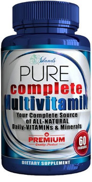 Islands Miracle Daily Multivitamin + Antioxidant For Men & Women All Natural Vitamins A, B Co.