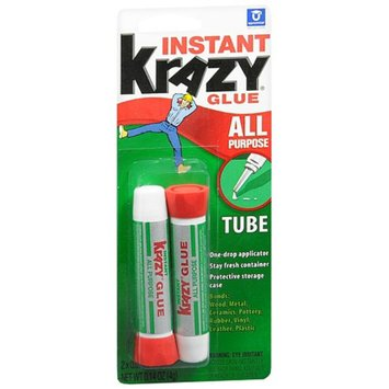Krazy Glue All Purpose Glue Tubes 2 Pack