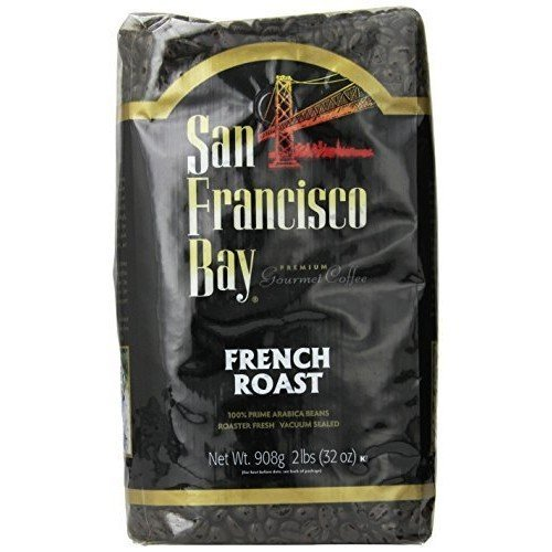 San Francisco Bay Coffee Whole Bean, French Roast, 32 Ounce (Pack of 2)