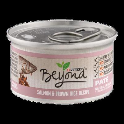 Purina Beyond Natural Cat Food Salmon & Brown Rice Recipe Pate
