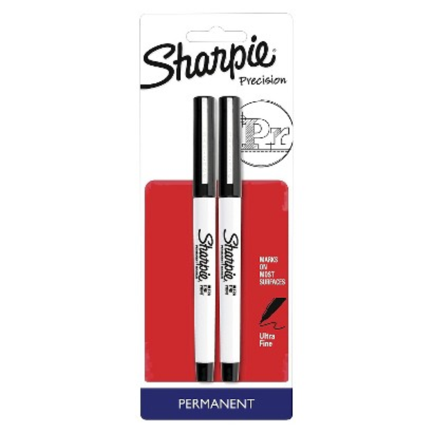 Sanford Sharpie 2ct Black Ultra Fine tip Permanent Marker