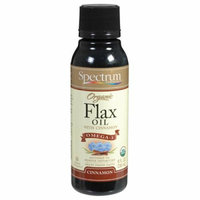 Spectrum Essentials Organic Flax Oil Cinnamon 8 fl oz