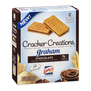 Lance Cracker Creations Graham Chocolate - 6 PK