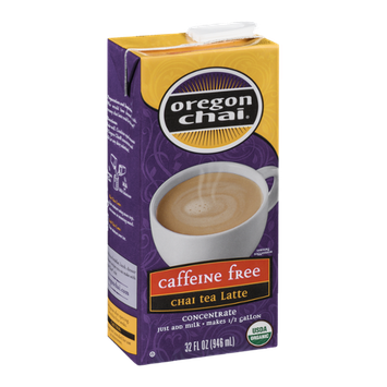 Oregon Chai Caffeine Free Chai Tea Latte Concentrate