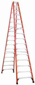 Louisville Specialty Double-Step Ladder - 15 Steps