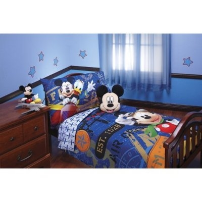 Disney Mickey Mouse 4 Piece Bed Set - Blue (Toddler)