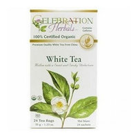 Celebration Herbals Teas Celebration Herbals Organic White Tea -- 24 Herbal Tea Bags