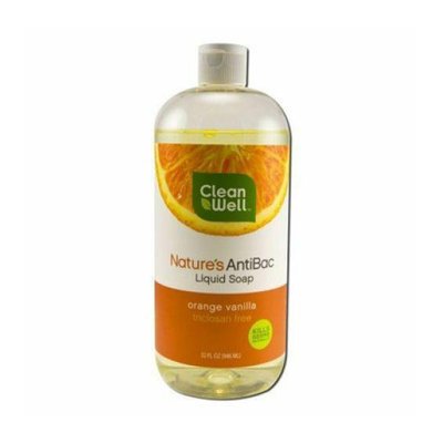 CleanWell Antibacterial Soap Refill Orange 32 oz