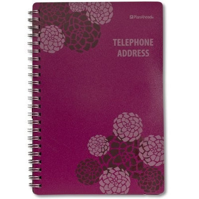 PlanAhead Plan Ahead See It Bigger Telephone/Address Book, Large Print, Assorted Colors, Color May Vary (70369C)