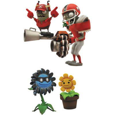 Plants Vs. Zombies: Garden Warfare All-Star Zombie and Dark Sunflower Action Figures, 2-Pack