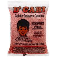 D'Gari Strawberry Gelatin Dessert Mix, 5 oz, (Pack of 24)