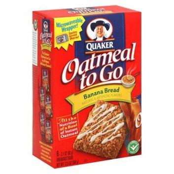 Quaker Oatmeal to Go Banana Bread Bars 6 pk