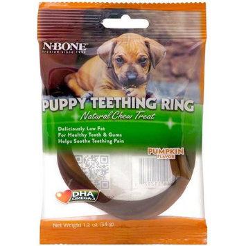 N-Bone Puppy Teething Ring - Pumpkin: 1 Pack - 3.5