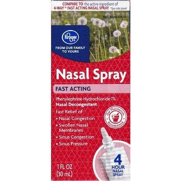 Kroger - Nasal Four Decongestant Spray (Phenylephrine hydrochloride 1%) 1 fl oz