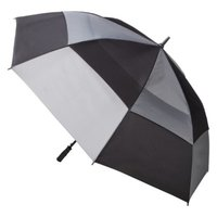 Totes totes Double Canopy Golf Stick Umbrella - Black/Grey