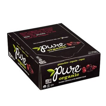 Pure Organic Raw Fruit & Nuts Bars Dark Chocolate Berry