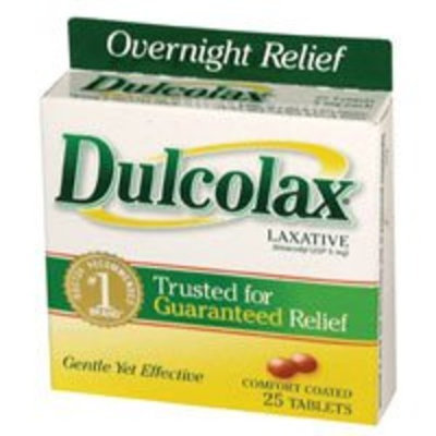 Dulcolax Laxative Tablets 5Mg relieves Constipation - 25 Each
