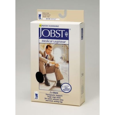 Jobst Men's 30-40 mmHg Closed Toe Thigh High Support Sock Size: Large, Color: Black