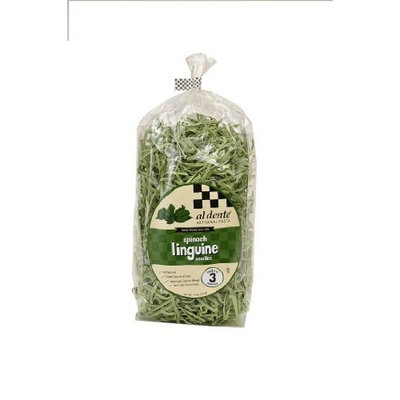 Al Dente Spinach Linguine, 12-Ounce Bag (Pack of 6)