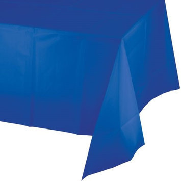 Creative Converting Plastic Tablecover 54X108-Cobalt