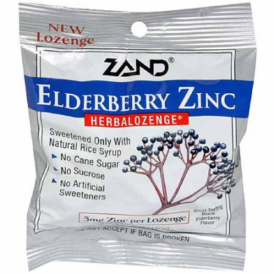 Generic Zand Elderberry Zinc Dietary Supplement Lozenges, 15 count, (Pack of 12)