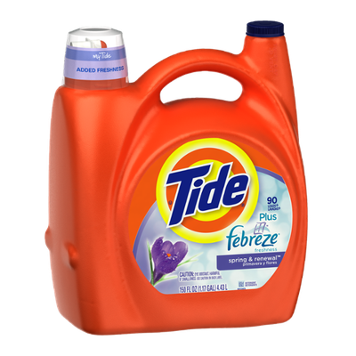 Tide Plus Febreze Freshness Spring & Renewal Scent Liquid Laundry Detergent 150 Fl Oz