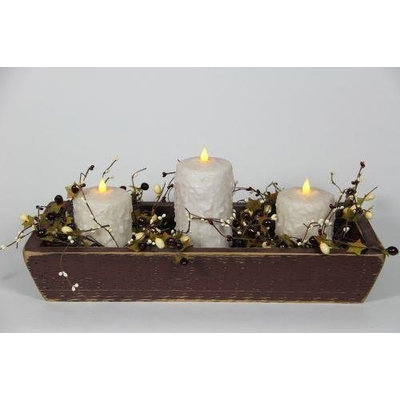 Delighted Home DH-3PTBUC Burgundy 3 Pillar Trough with 1 6 in. and 2 4 in. Cream Pillars and Garland